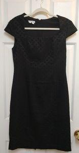 Vintage London Times Textured Black Dress